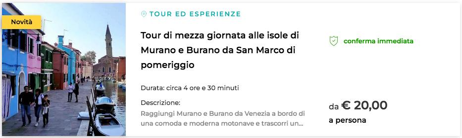 migliori escursioni a Burano Venezia
