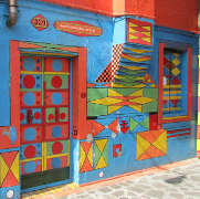 Burano's most colorful house