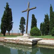 Croce in legno sull'isola di San Francesco