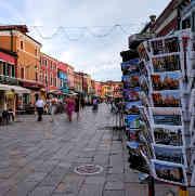 Burano strolling along Piazza Galuppi