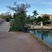 Torcello bridge to the square