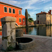 Torcello's fountain in the square