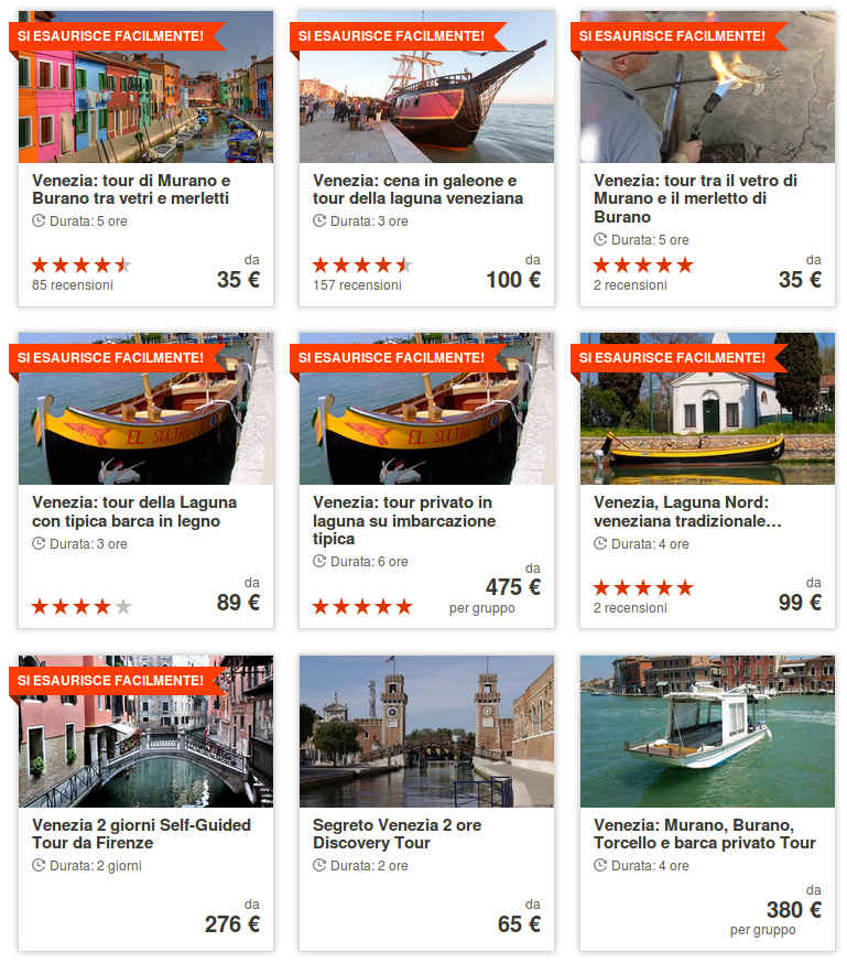 Get Your Guide Escursioni Laguna di Venezia