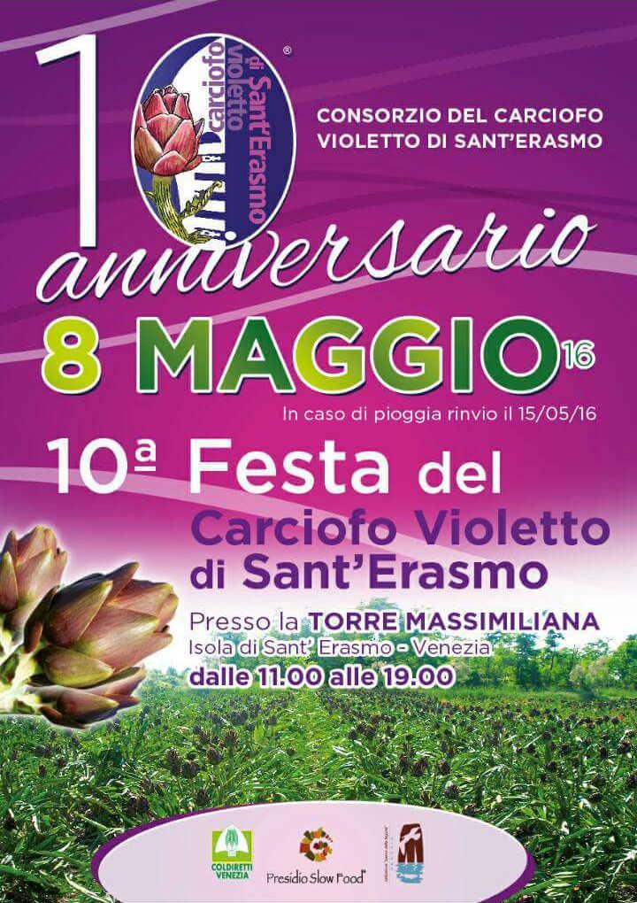 Schedule of violet artichoke festival in sant'erasmo 2017