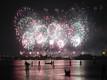 Venice Redentore's feast fireworks in Riva degli Schiavoni