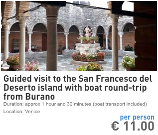 boat connection between burano and san francesco del deserto