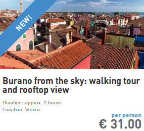 Burano walking tour and rooftop view