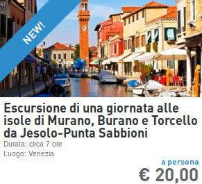 Escursione giornaliera Murano Burano Venezia da Punta Sabbioni