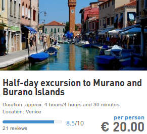 excursion to murano and burano from san marco