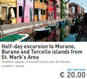 excursion to murano burano and torcello from san marco