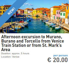 excursion to murano burano and torcello from venice train station