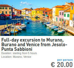 full-day escursion to Murano Burano Venice from Punta Sabbioni