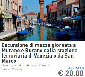 gita a murano e burano dalla stazione dei treni di venezia