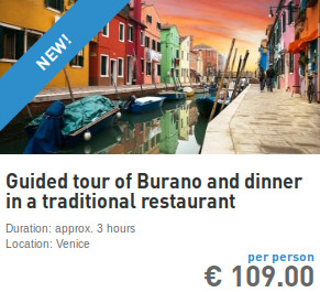 guided tour of burano and dinner in a traditional restaurant