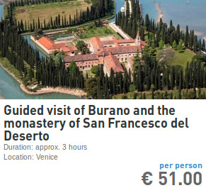 guided visit of Burano and San Francesco del Deserto
