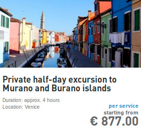 private half day excursion to Murano and Burano