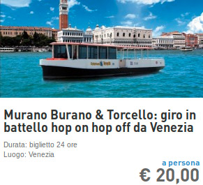 venezia isole giro in battello hop on hop off
