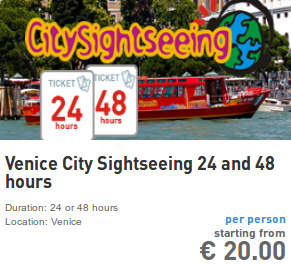 venice and murano hop on hop off city sightseeing