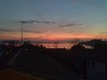 Sell apartment attic in Burano, sunset in lagoon