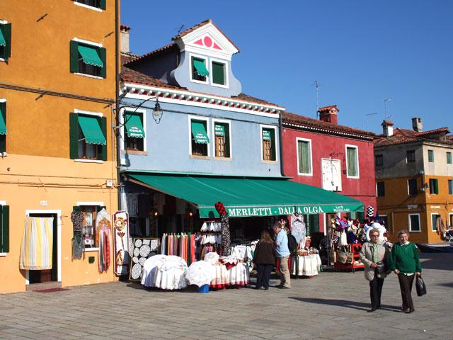 Merletti dalla olga a burano for Negozi arredamento venezia